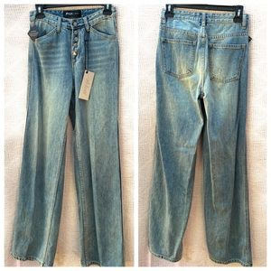 Nasty Gal Snap Jeans NWT